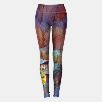 Thumbnail image of mountains in winter Legginsy, Live Heroes