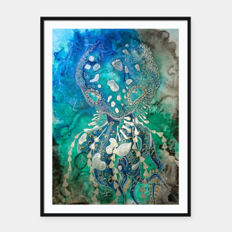 Thumbnail image of Space Jellyfish Framed poster, Live Heroes