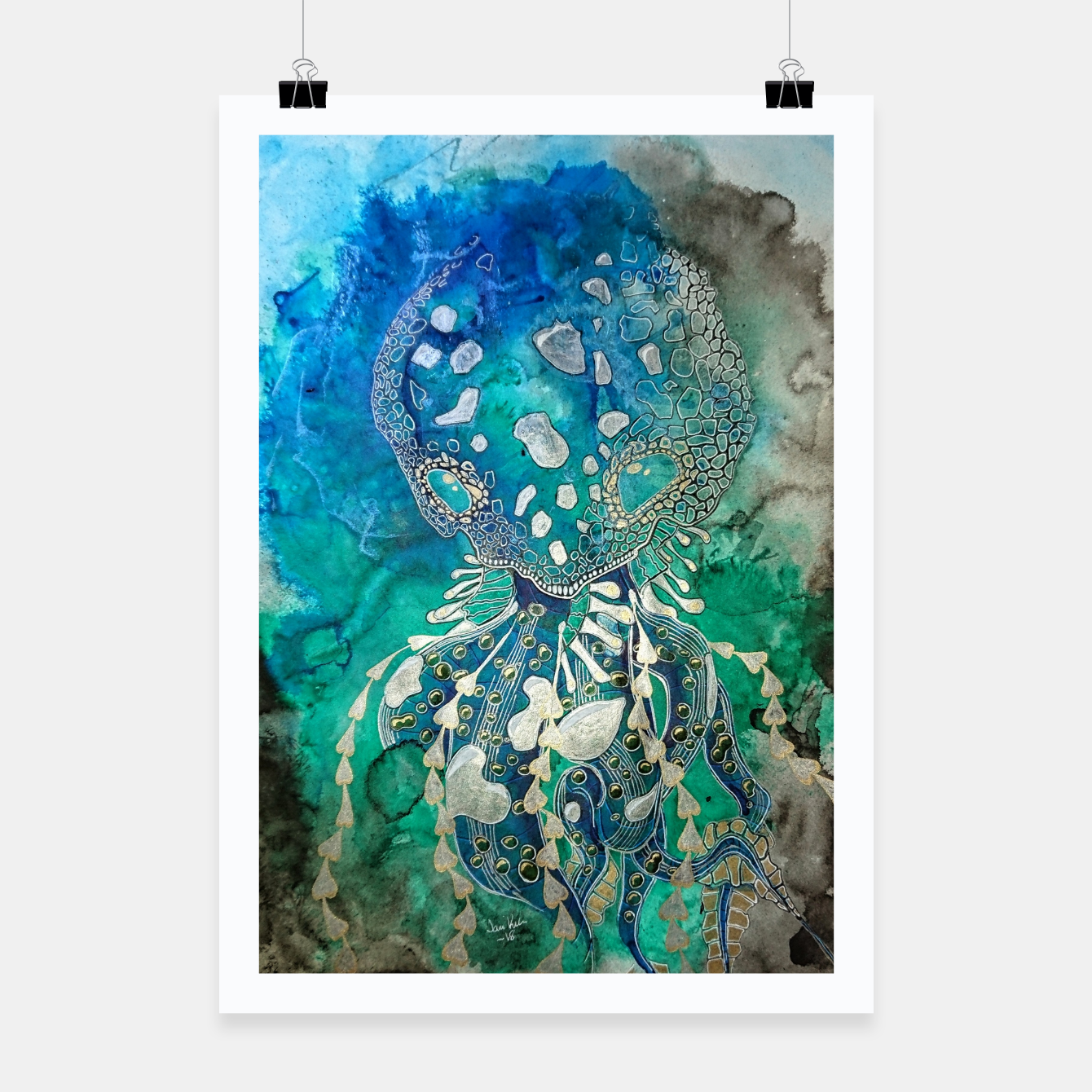 Image of Space Jellyfish Poster - Live Heroes