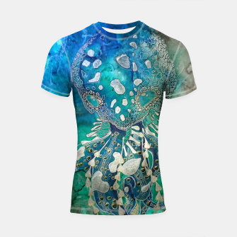 Thumbnail image of Space Jellyfish Shortsleeve rashguard, Live Heroes
