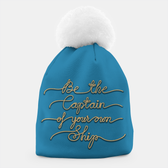 Miniaturka Be the Captain of your own Ship (Blue and Beige) Beanie, Live Heroes