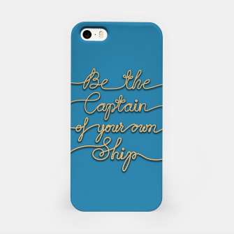 Miniaturka Be the Captain of your own Ship (Blue and Beige) iPhone Case, Live Heroes