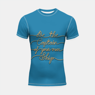Miniaturka Be the Captain of your own Ship (Blue and Beige) Shortsleeve rashguard, Live Heroes