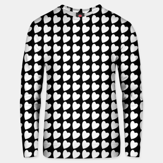 Thumbnail image of Heart Pattern Black and White Unisex sweater, Live Heroes