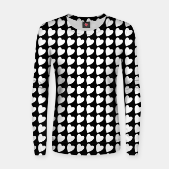 Thumbnail image of Heart Pattern Black and White Women sweater, Live Heroes