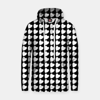 Thumbnail image of Heart Pattern Black and White Hoodie, Live Heroes