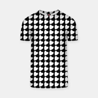 Thumbnail image of Heart Pattern Black and White T-shirt, Live Heroes