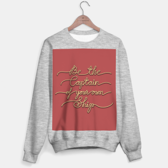 Miniaturka Be the Captain of your own Ship (Red and Beige) Sweater regular, Live Heroes