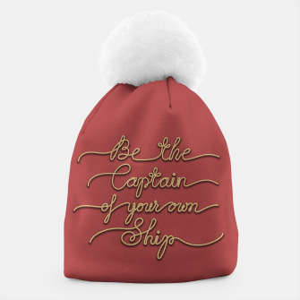 Miniaturka Be the Captain of your own Ship (Red and Beige) Beanie, Live Heroes