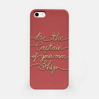 Miniaturka Be the Captain of your own Ship (Red and Beige) iPhone Case, Live Heroes
