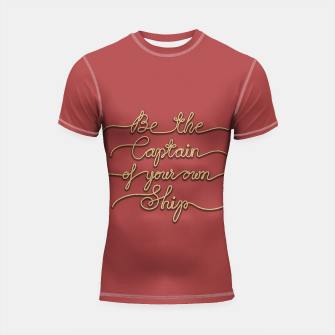 Miniaturka Be the Captain of your own Ship (Red and Beige) Shortsleeve rashguard, Live Heroes