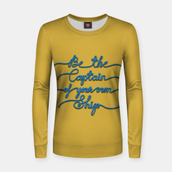 Miniaturka Be the Captain of your own Ship (Yellow and Blue) Women sweater, Live Heroes