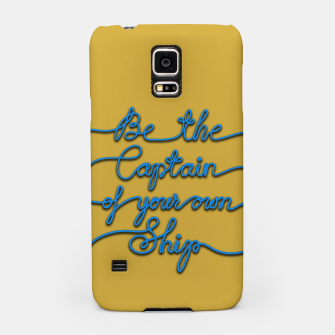 Miniaturka Be the Captain of your own Ship (Yellow and Blue) Samsung Case, Live Heroes