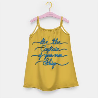 Miniaturka Be the Captain of your own Ship (Yellow and Blue) Girl's dress, Live Heroes