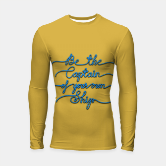 Miniaturka Be the Captain of your own Ship (Yellow and Blue) Longsleeve rashguard , Live Heroes
