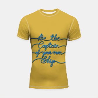Miniaturka Be the Captain of your own Ship (Yellow and Blue) Shortsleeve rashguard, Live Heroes