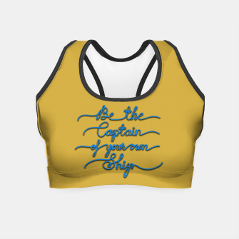 Miniaturka Be the Captain of your own Ship (Yellow and Blue) Crop Top, Live Heroes