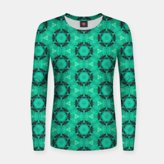 Miniaturka Mint Hexagons and Stars Women sweater, Live Heroes