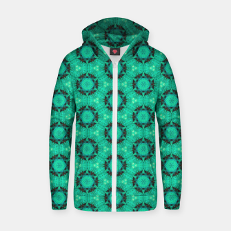 Miniaturka Mint Hexagons and Stars Zip up hoodie, Live Heroes