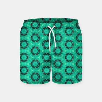 Miniature de image de Mint Hexagons and Stars Swim Shorts, Live Heroes