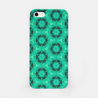 Miniature de image de Mint Hexagons and Stars iPhone Case, Live Heroes