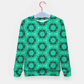 Miniature de image de Mint Hexagons and Stars Kid's sweater, Live Heroes