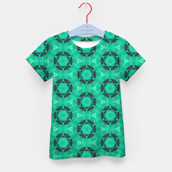 Miniaturka Mint Hexagons and Stars Kid's t-shirt, Live Heroes