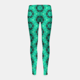 Miniature de image de Mint Hexagons and Stars Girl's leggings, Live Heroes