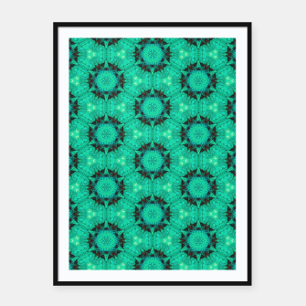 Miniature de image de Mint Hexagons and Stars Framed poster, Live Heroes