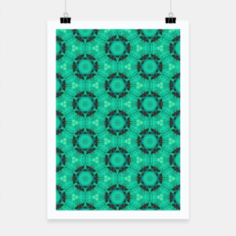 Miniature de image de Mint Hexagons and Stars Poster, Live Heroes