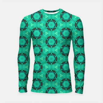 Miniaturka Mint Hexagons and Stars Longsleeve rashguard , Live Heroes