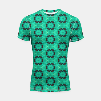 Miniaturka Mint Hexagons and Stars Shortsleeve rashguard, Live Heroes