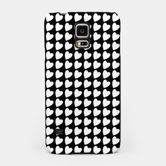 Thumbnail image of Heart Pattern Black and White Samsung Case, Live Heroes