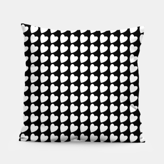Thumbnail image of Heart Pattern Black and White Pillow, Live Heroes