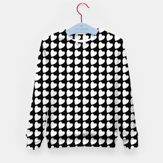 Thumbnail image of Heart Pattern Black and White Kid's sweater, Live Heroes