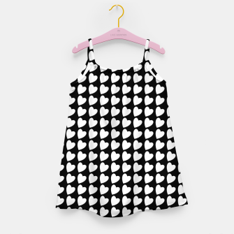 Thumbnail image of Heart Pattern Black and White Girl's dress, Live Heroes