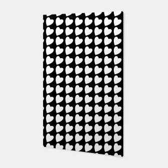 Thumbnail image of Heart Pattern Black and White Canvas, Live Heroes