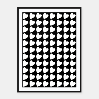 Thumbnail image of Heart Pattern Black and White Framed poster, Live Heroes