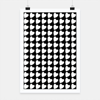 Thumbnail image of Heart Pattern Black and White Poster, Live Heroes