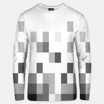 Thumbnail image of Grey scale pixels Unisex sweater, Live Heroes