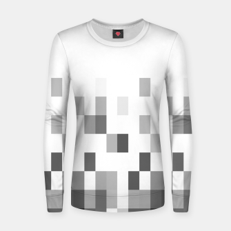 Thumbnail image of Grey scale pixels Women sweater, Live Heroes
