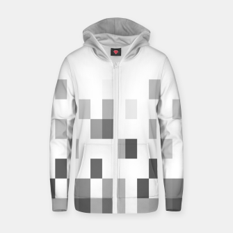 Thumbnail image of Grey scale pixels Zip up hoodie, Live Heroes