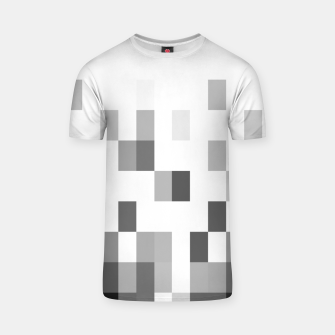 Thumbnail image of Grey scale pixels T-shirt, Live Heroes