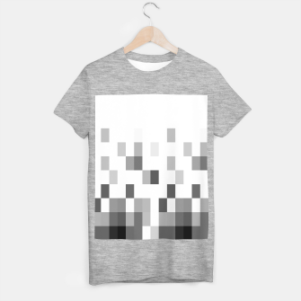Thumbnail image of Grey scale pixels T-shirt regular, Live Heroes