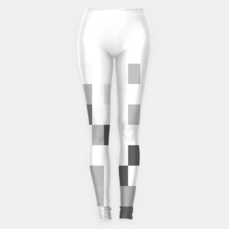 Thumbnail image of Grey scale pixels Leggings, Live Heroes