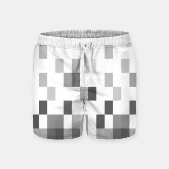 Thumbnail image of Grey scale pixels Swim Shorts, Live Heroes