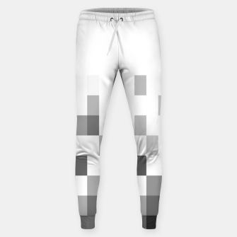 Thumbnail image of Grey scale pixels Sweatpants, Live Heroes