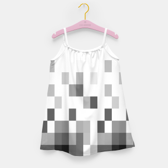 Thumbnail image of Grey scale pixels Girl's dress, Live Heroes