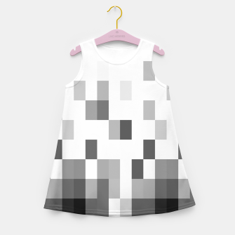 Thumbnail image of Grey scale pixels Girl's summer dress, Live Heroes