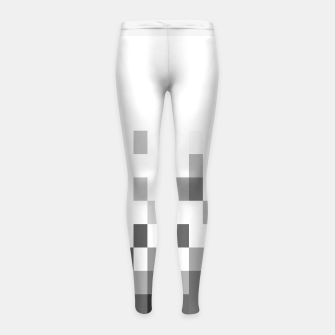 Thumbnail image of Grey scale pixels Girl's leggings, Live Heroes